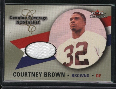 2000 Fleer Tradition Genuine Coverage Nostalgic #9 Courtney Brown
