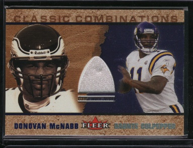 2002 Fleer Tradition Classic Combinations Memorabilia #21 Donovan McNabb JSY/Daunte Culpepper