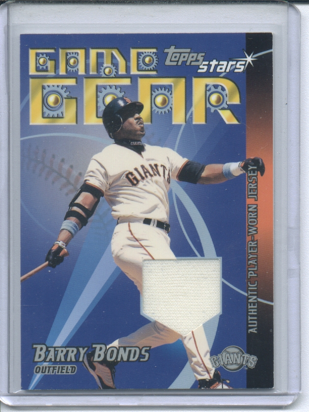 2001 Topps Stars Game Gear Jerseys #TSRBB Barry Bonds B