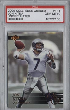 2000 Collector's Edge Graded Uncirculated #131 Jon Kitna Gem Mint PSA 10 NICE!!