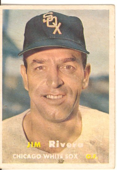 1957 Topps #107 Jim Rivera