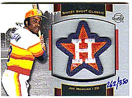 2003 Sweet Spot Classics Patch Cards #JM2 Joe Morgan Astros/350