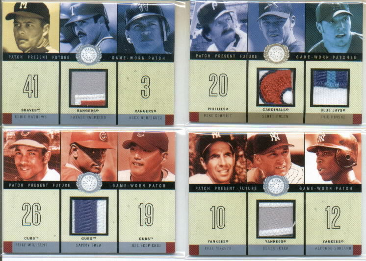 2003 Fleer Patchworks Patch Present Future Dual #SREH Mike Schmidt/Scott Rolen Patch/Eric Hinske Patch