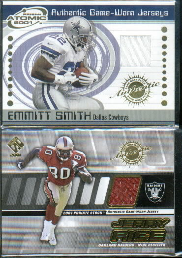2001 Pacific Prism Atomic Jerseys #23 Emmitt Smith