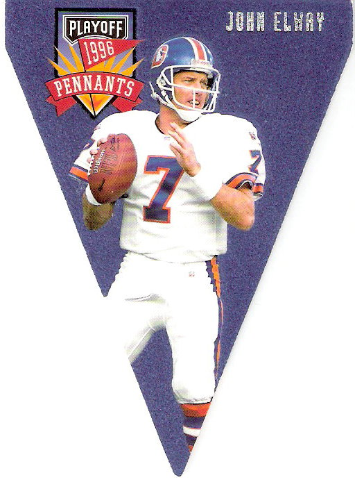 1996 Playoff Contenders Pennants #7 John Elway R