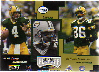 1999 Playoff Contenders SSD Triple Threat Red #TT50 Dorsey Levens/50
