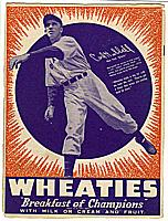 1937 Wheaties BB8 #7 Carl Hubbell/(throwing)