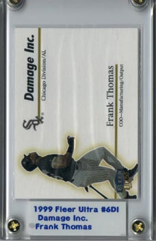 1999 Fleer Ultra Frank Thomas Damage Inc. Mint