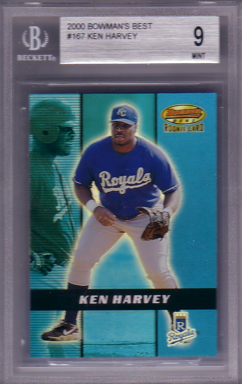 2000 Bowman's Best Ken Harvey #9/2999 RC Rookie BGS-9.0 MINT Kansas City Royals