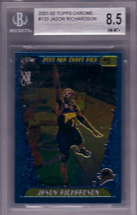 2001-02 Topps Chrome #133 Jason Richardson RC Rookie BGS-8.5 NM/MT+ Warriors