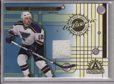 2001-02 Pacific Adrenaline Jerseys #40 Cory Stillman