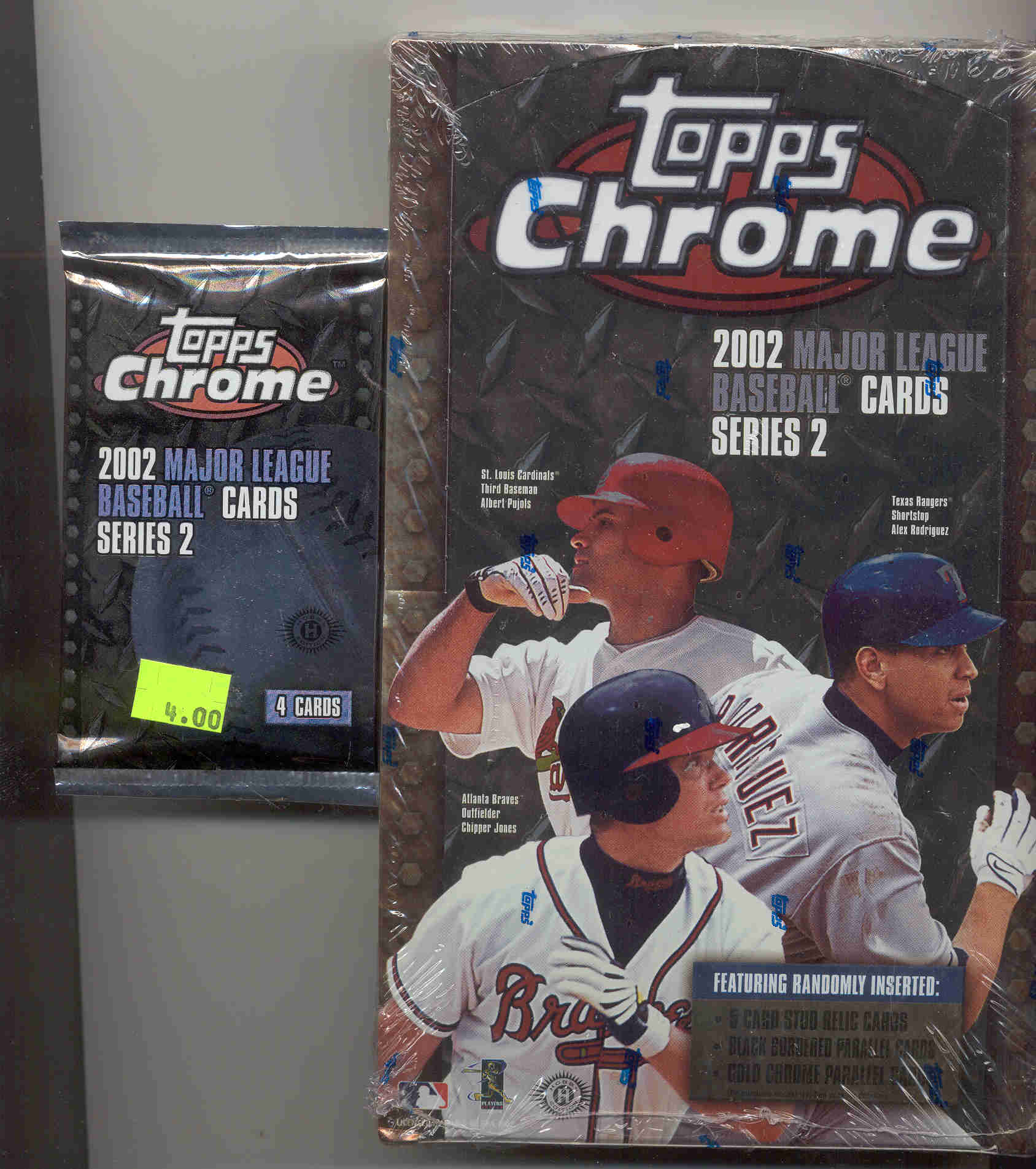 2002 Topps Chrome Series 2 Packs 4 Cards Per Pack 