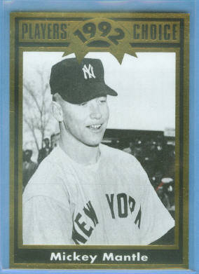 1992 Cartwright's Player's Choice Gold Foil Card #36 Mickey Mantle