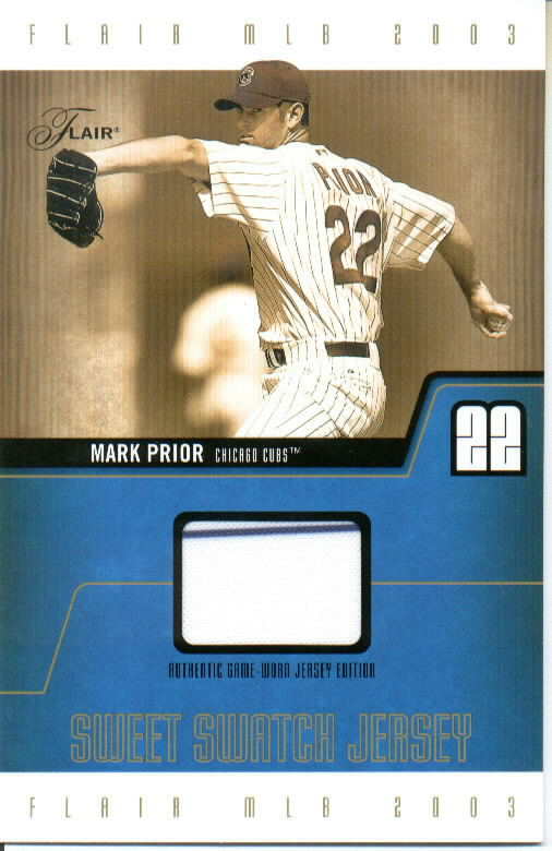2003 Flair Sweet Swatch Jersey Jumbo #MPSSJ Mark Prior/1195