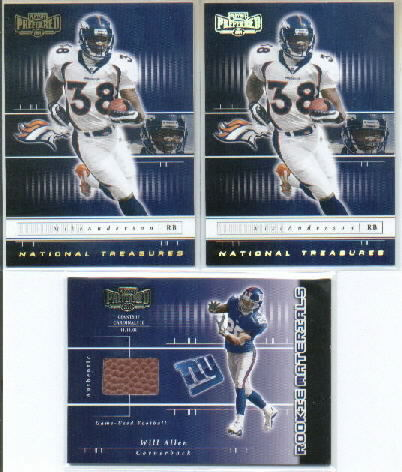 2001 Playoff Preferred #215 Will Allen FB/750 RC