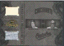 2003 Timeless Treasures HOF Induction Year Combos #7 Jim Palmer Jsy/Joe Morgan Jsy