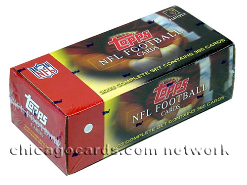 2003 Topps NFL Football Complete Hobby Set (385 Cards/Set, 290 Veterans, 75 Rookies Palmer Leftwich Johnson Rogers) Factory Sealed ***In Stock***