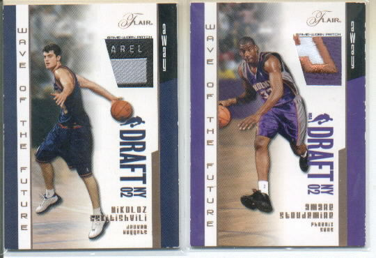 2002-03 Flair Wave of the Future Patches #NT Nikoloz Tskitishvili