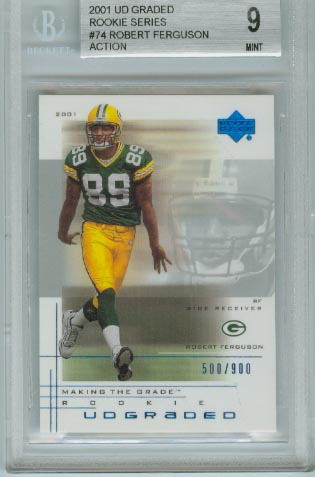 2001 UD Graded Rookie Series  #74 Robert Ferguson Action  BGS Graded 9 Mint #d 500/900