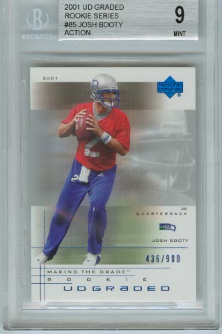 2001 UD Graded Rookie Series  #85 Josh Booty  Action  BGS Graded 9 Mint  #d 436/900