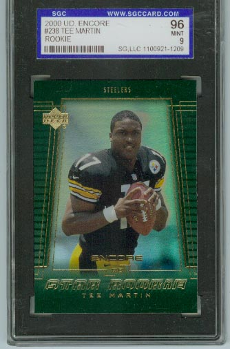 2000 Upper Deck Encore #238 Tee Martin  SGC Graded 96 Mint