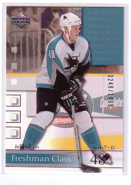 2001-02 Upper Deck Honor Roll #86 Jeff Jillson RC