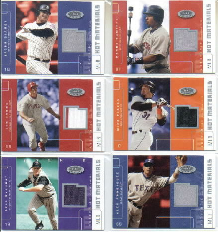 2003 Hot Prospects MLB Hot Materials #MPI Mike Piazza Jsy