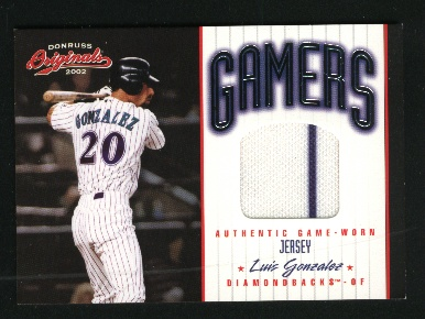 2002 Donruss Originals Gamers #33 Luis Gonzalez/500