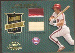 2003 Timeless Treasures Award Prime #2 Mike Schmidt Bat-Jsy/25