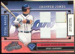 2003 Absolute Memorabilia Total Bases Materials HR #26 Chipper Jones/26