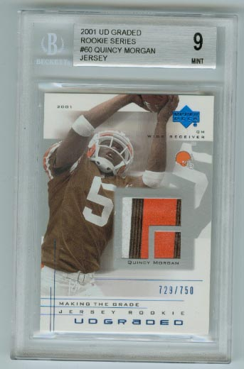 2001 UD Graded Rookie Jerseys #60 Quincy Morgan