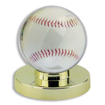 GOLD BASE BASEBALL HOLDER - ULTRA PRO PROTECT YOUR BALLS