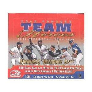 2003 Donruss Team Heroes Hobby Baseball Unopened Box (24 Packs)