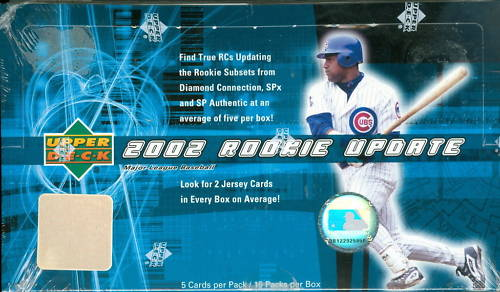 2002 Upper Deck Rookie Update Baseball Unopened Box (15 Packs)