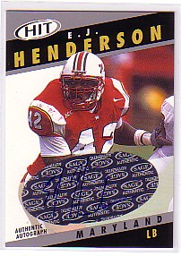2003 SAGE HIT Class of 2003 Autographs #A42 E.J. Henderson
