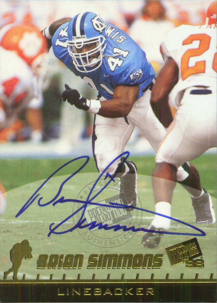 1998 Press Pass Autographs #10 Brian Simmons