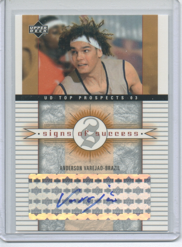 2003-04 UD Top Prospects Signs of Success #SSAV Anderson Varejao