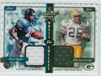 1999 Leaf Rookies and Stars Dress For Success #27 Fred Taylor/Dorsey Levens