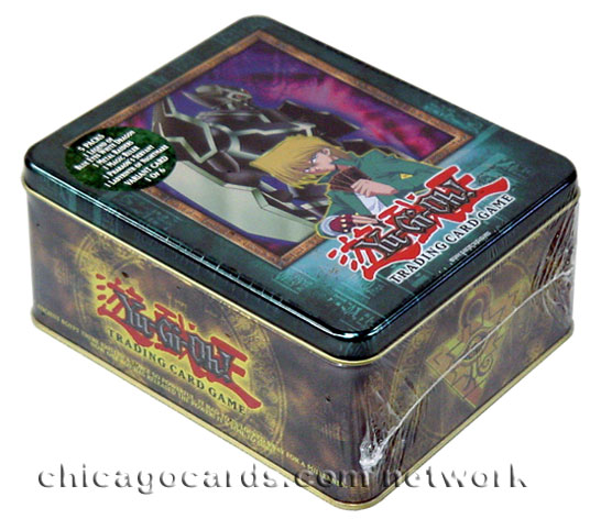 2003 Yu-Gi-Oh! Limited Edition Gearfried the Iron Knight Collector's Tin Set/Box(Includes 5 Packs: Blue Eyes Metal Raiders Magic Rulers Pharaoh Servant Labyrinth of Nightmare)Factory Sealed *In Stock*
