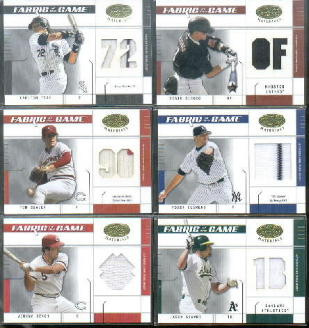 2003 Leaf Certified Materials Fabric of the Game #57PS Jason Giambi A's PS/50