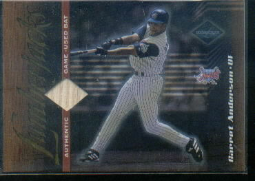 2001 Leaf Limited #160 Garret Anderson LUM/500