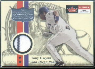 2001 Fleer Platinum National Patch Time #24 Tony Gwynn White S1