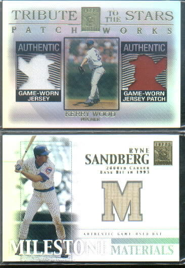 2002 Topps Tribute Milestone Materials #RS Ryne Sandberg Bat