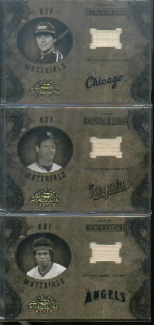 2003 Timeless Treasures HOF Materials #6 George Brett Bat/100
