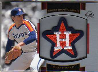2003 Sweet Spot Classics Patch Cards #NR1 Nolan Ryan Astros