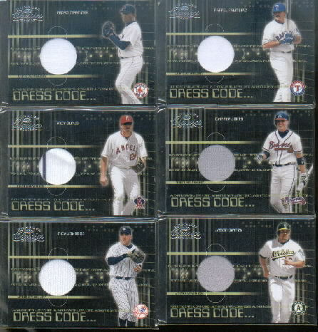 2003 Donruss Classics Dress Code #5 Chipper Jones Jsy/425