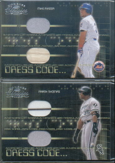 2003 Donruss Classics Dress Code #29 Mike Piazza Bat-Jsy/200