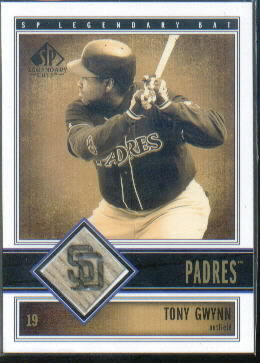 2002 SP Legendary Cuts Game Bat #BTGW Tony Gwynn SP *