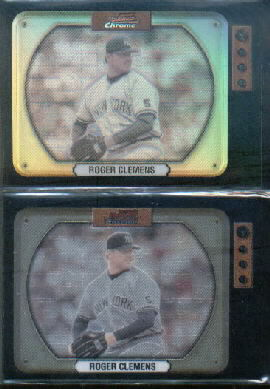 2000 Bowman Chrome Retro/Future Refractors #129 Roger Clemens