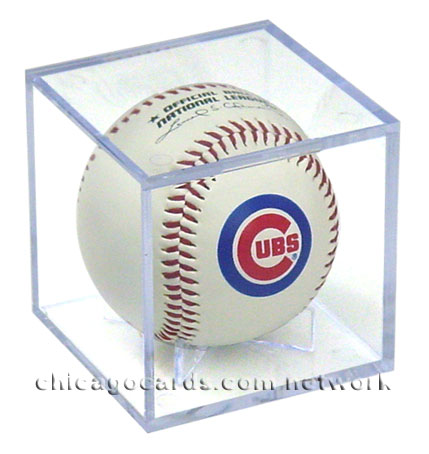 Chicago Cubs Official Rawlings Baseball w/Clear Ball Cube